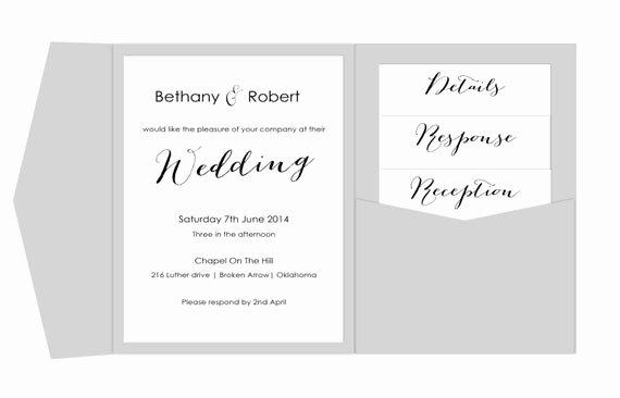 Pocket Wedding Invitation Template Unique Pocket Wedding Invitation Template Printable Diy Pocket Fold
