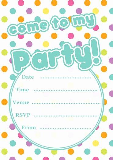 Polka Dot Invitation Template Awesome Free Printable Polka Dot Party Invitations Template