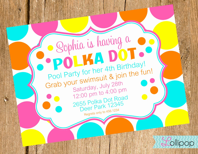 Polka Dot Invitation Template Awesome Polka Dot Birthday Invitations Templates