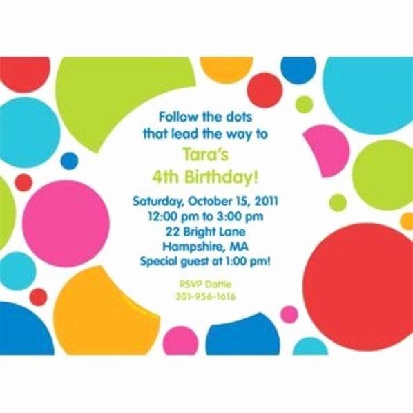 Polka Dot Invitation Template Awesome Polka Dot Party Personalized Invitation Custom
