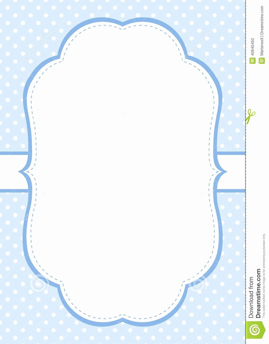 Polka Dot Invitation Template Beautiful Blue Polka Dot Invitation Template Download From Over 36