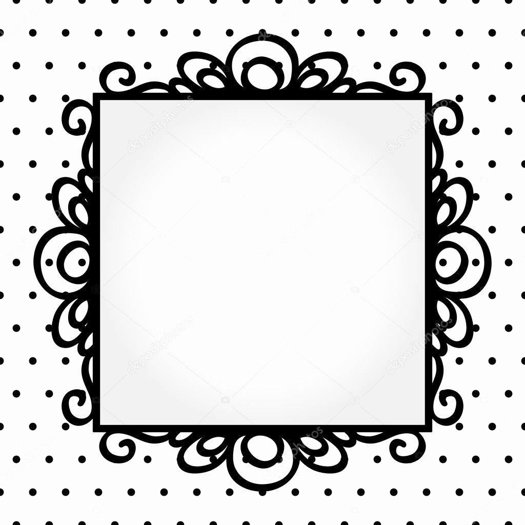 Polka Dot Invitation Template Beautiful Retro Square Frame On Polka Dot Background Invitation or