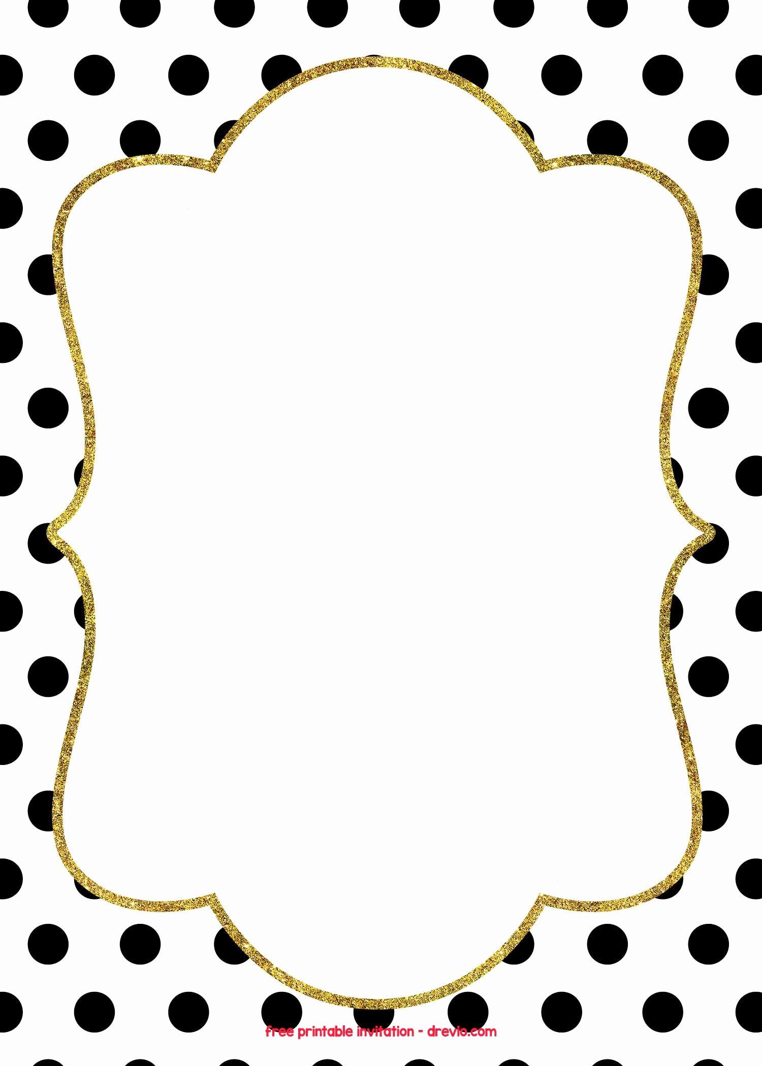 Polka Dot Invitation Template Best Of Free Golden Polkadot Invitation Templates