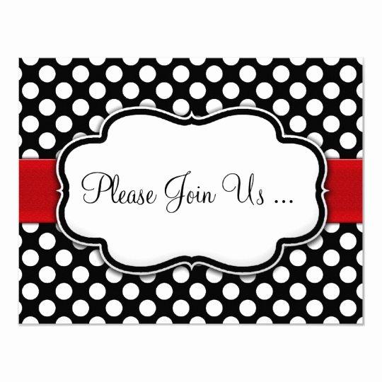 Polka Dot Invitation Template Best Of Posh Black and White Polka Dot Invitations