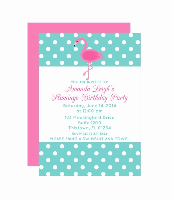Polka Dot Invitation Template Elegant Polka Dot Flamingo Party Invitation Chicfetti