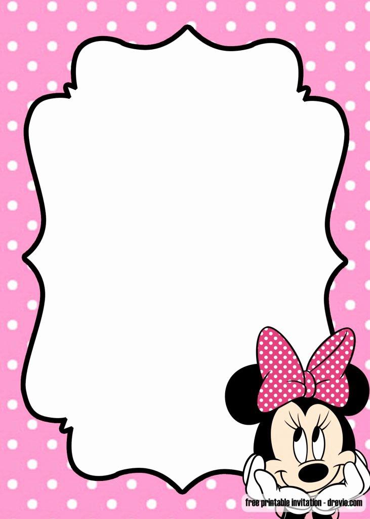 Polka Dot Invitation Template Inspirational Free Minnie Mouse Kids Polkadot Invitation Templates