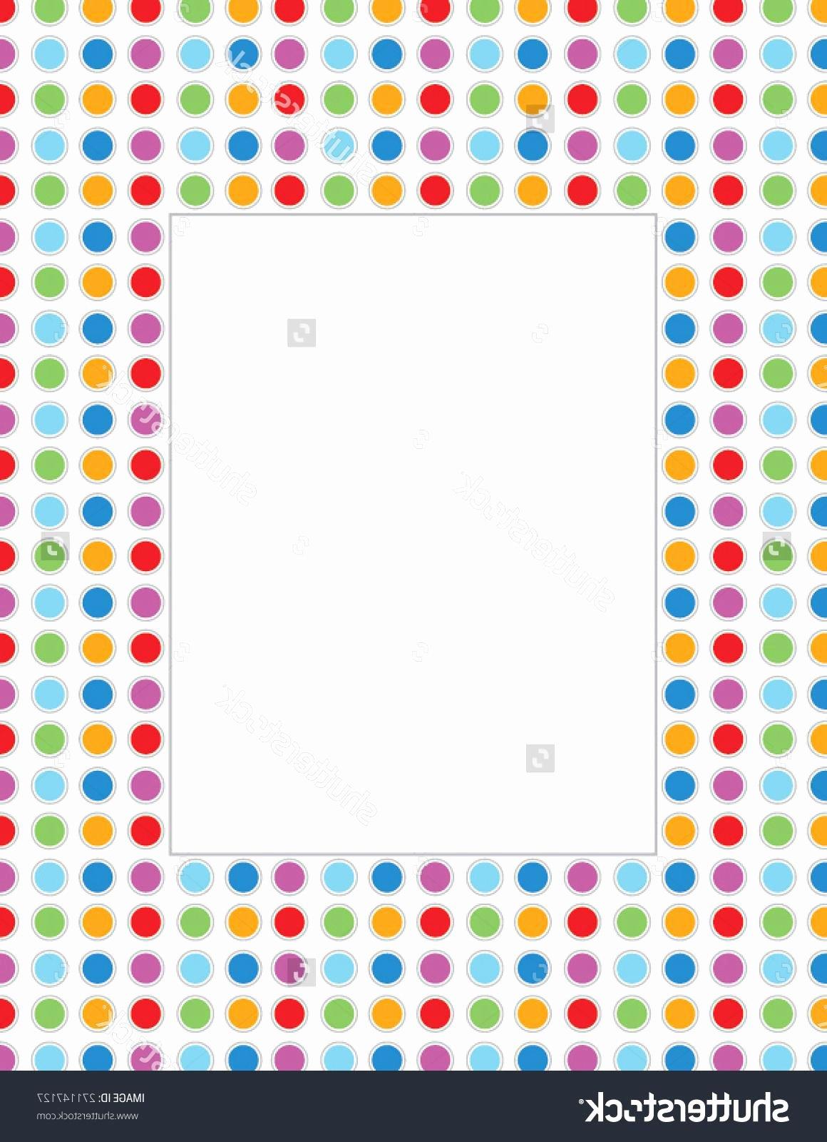 Polka Dot Invitation Template Lovely Best Stock Vector Polka Dot Invitation Template and Frame