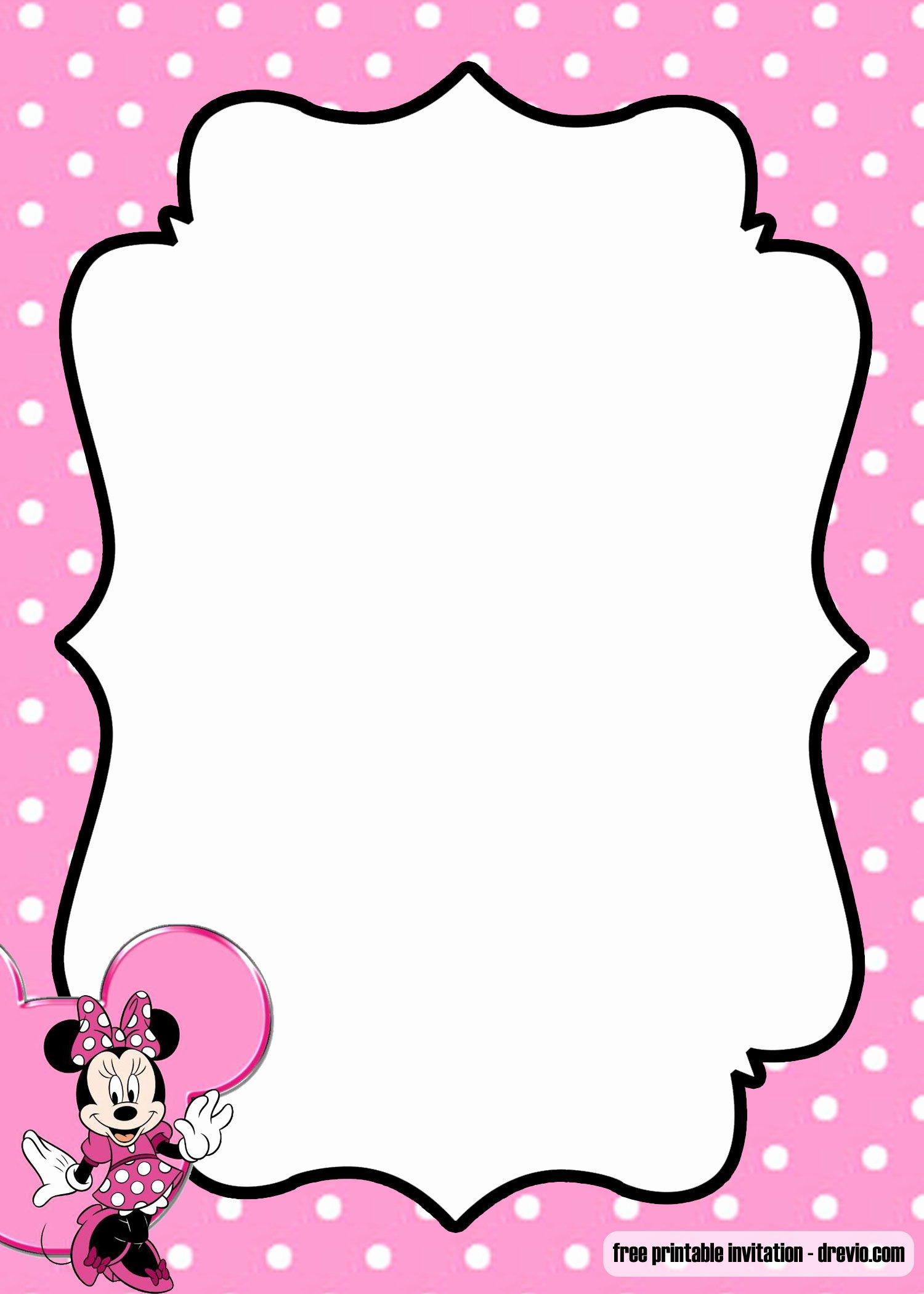 Polka Dot Invitation Template Lovely Free Minnie Mouse Kids Polkadot Invitation Templates