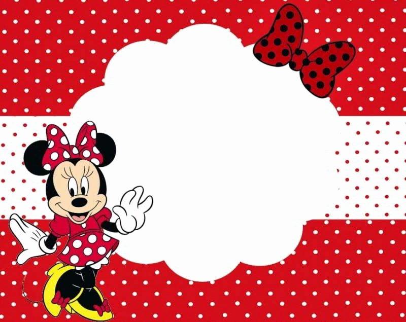 Polka Dot Invitation Template Luxury Custom Minnie Mouse Birthday Invitation Templates Free