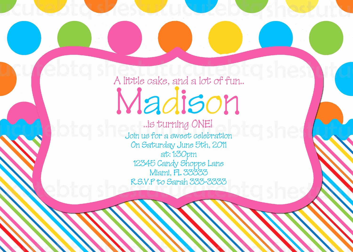 Polka Dot Invitation Template Luxury Polka Dot Invitations Free
