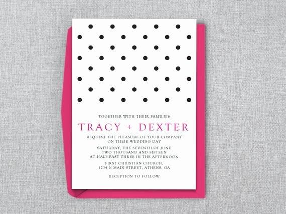 Polka Dot Invitation Template Luxury Polka Dot Wedding Invitation Template Ms Word by Lashepherd