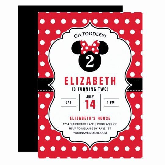 Polka Dot Invitation Template Unique Minnie Mouse