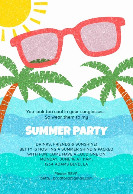 Pool Party Invitation Template Free Awesome Pool Party Invitation Templates Free