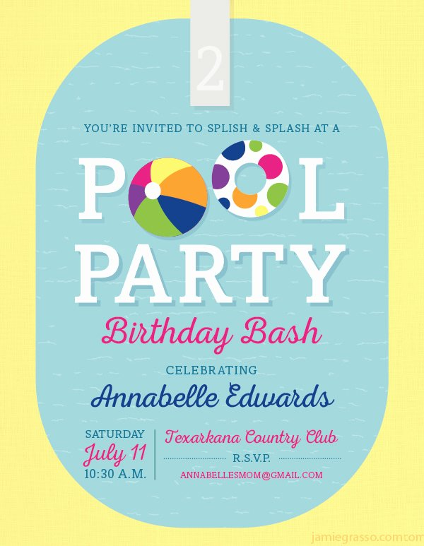 Pool Party Invitation Template Free Beautiful 36 Pool Party Invitation Templates Psd Ai Word