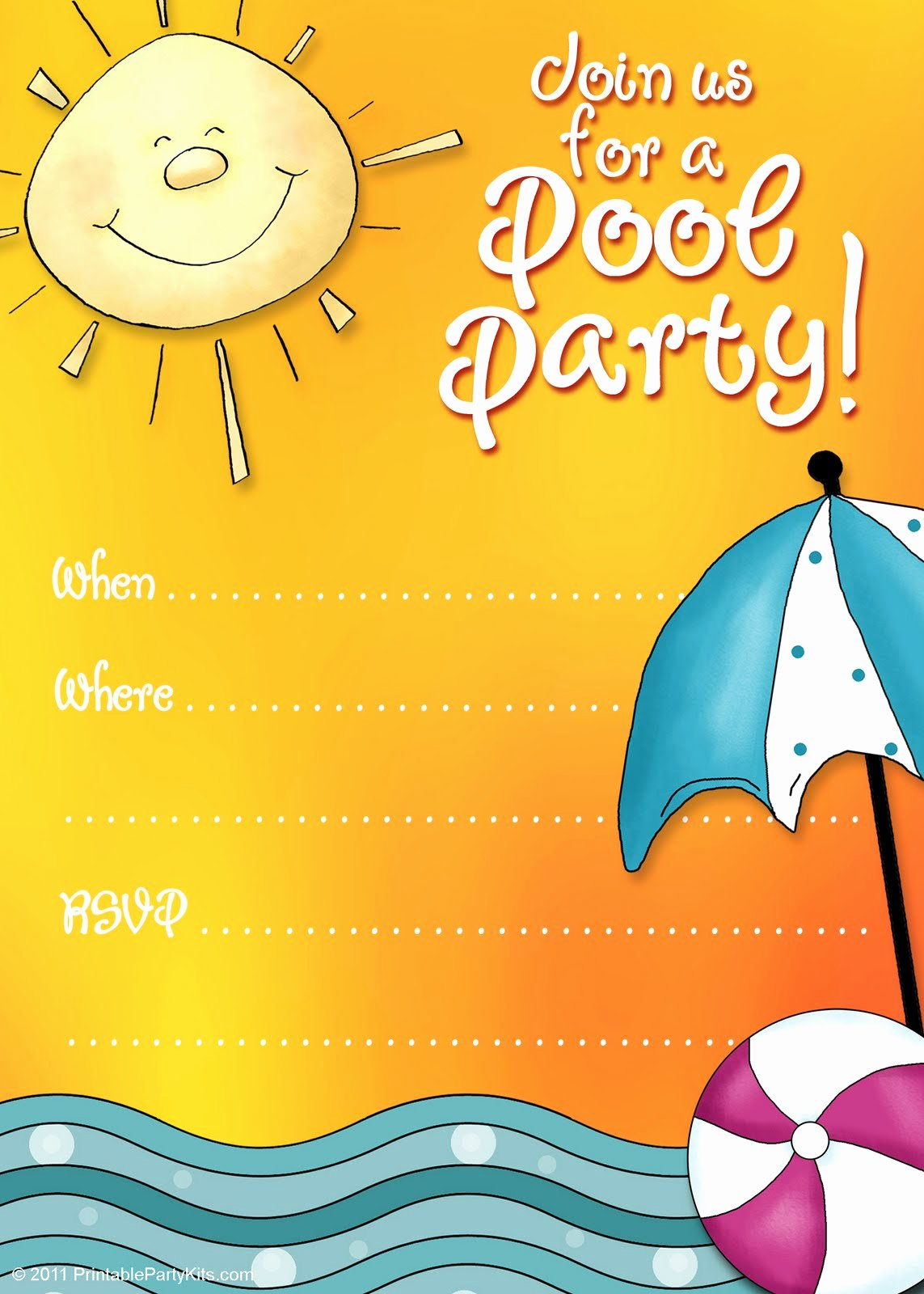 Pool Party Invitation Template Free Beautiful Free Printable Party Invitations Summer Pool Party Invites