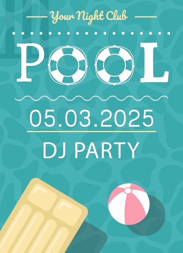 Pool Party Invitation Template Free Best Of 28 Pool Party Invitations Free Psd Vector Ai Eps
