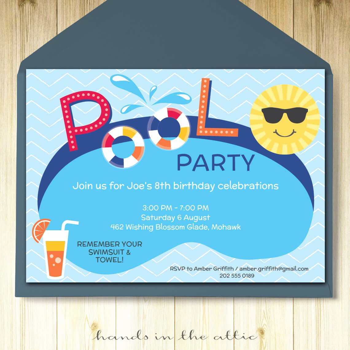 Pool Party Invitation Template Free Best Of Pool Party Invitation Card Editable Template Party Printable