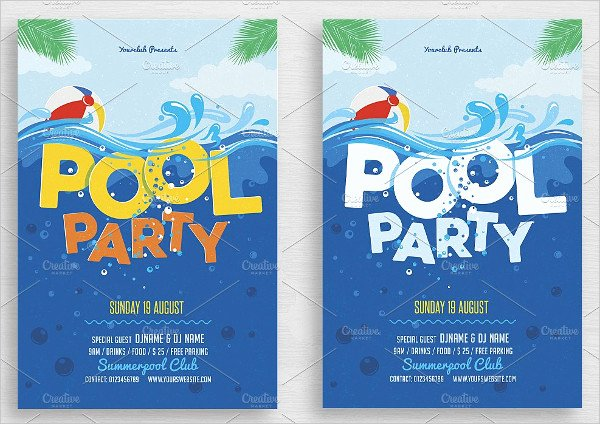 Pool Party Invitation Template Free New 33 Printable Pool Party Invitations Psd Ai Eps Word