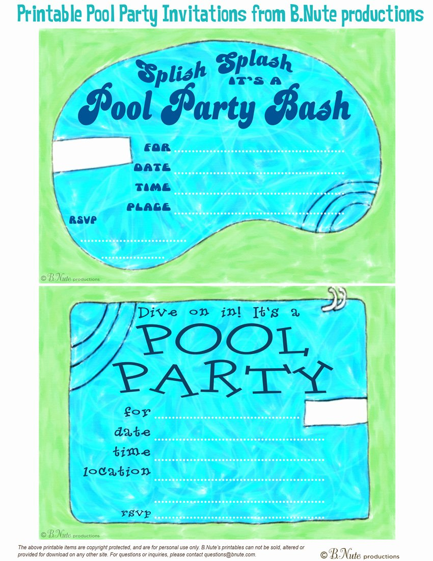Pool Party Invitation Template Free New Bnute Productions May 2013