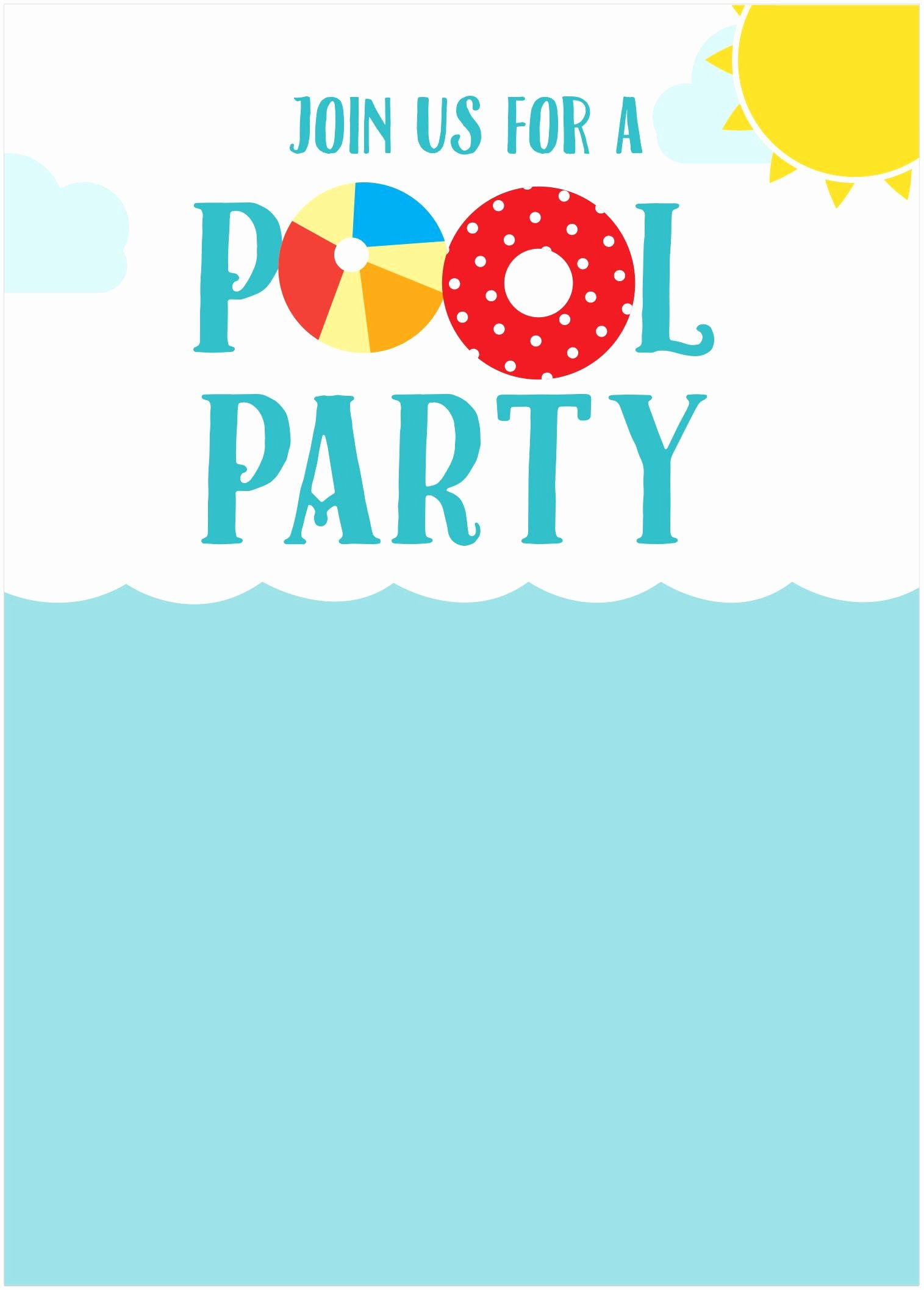 Pool Party Invitation Template Free New Free Summer Party Invitations Home