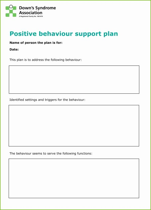 Positive Behavior Support Plan Template Elegant Supporting Behaviour Positively