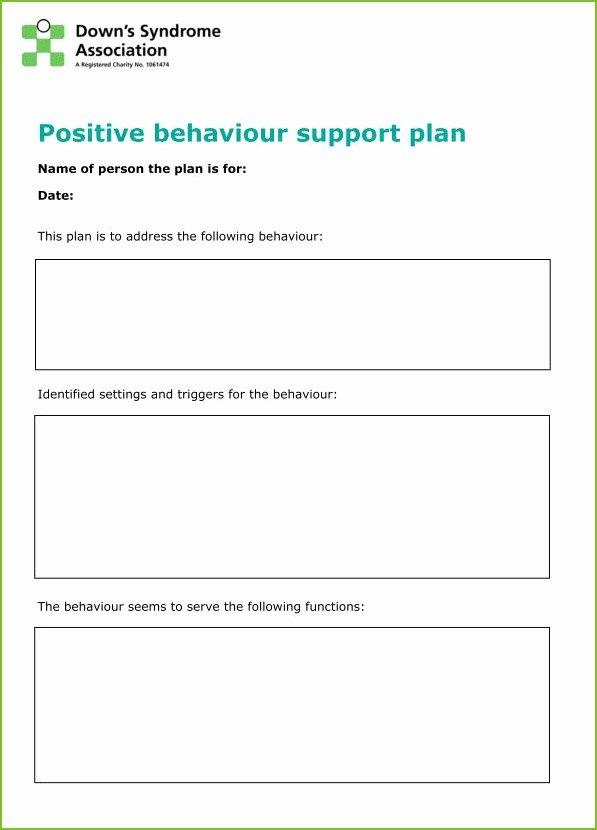 Positive Behavior Support Plan Template Elegant Supporting Behaviour Positively