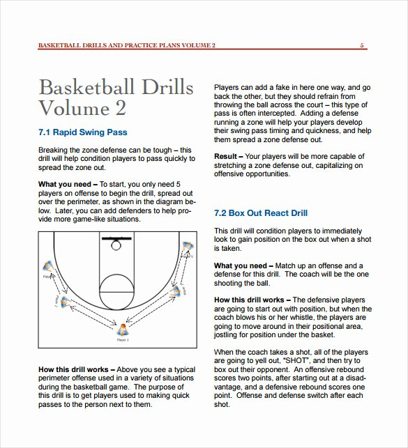 Practice Plan Template Basketball New 11 Basketball Practice Plan Templates Free Sample