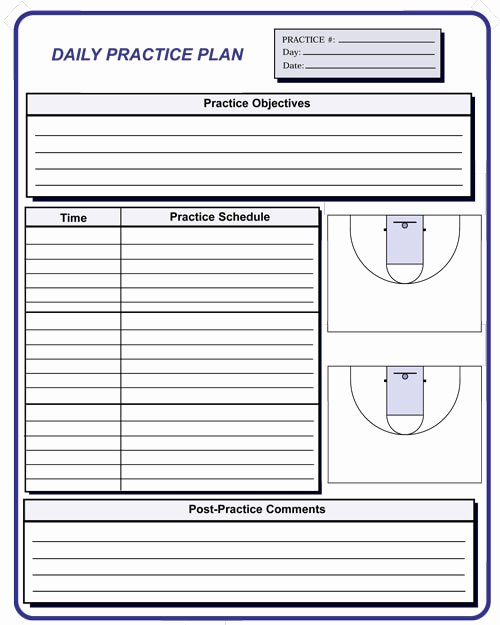 Practice Plan Template Basketball Unique Basketball Coaching forms