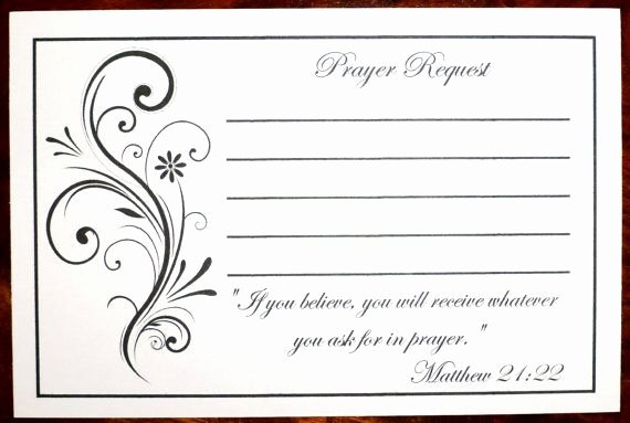 Prayer Request form Template Awesome Packs Of Prayer Request Cards Prayer List