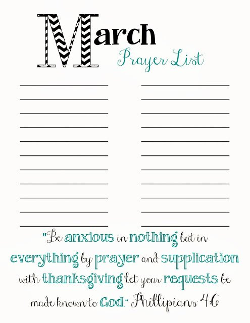 Prayer Request form Template Beautiful Doodles & Stitches March Prayer List Printable