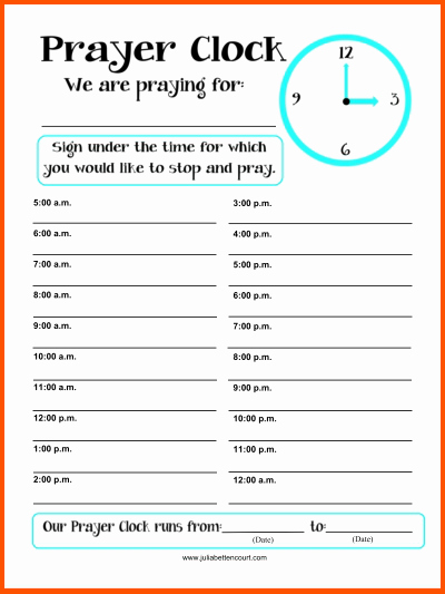 Prayer Request form Template Best Of Prayer List
