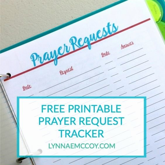 Prayer Request form Template New Prayer Request Free Printable and Prayer On Pinterest