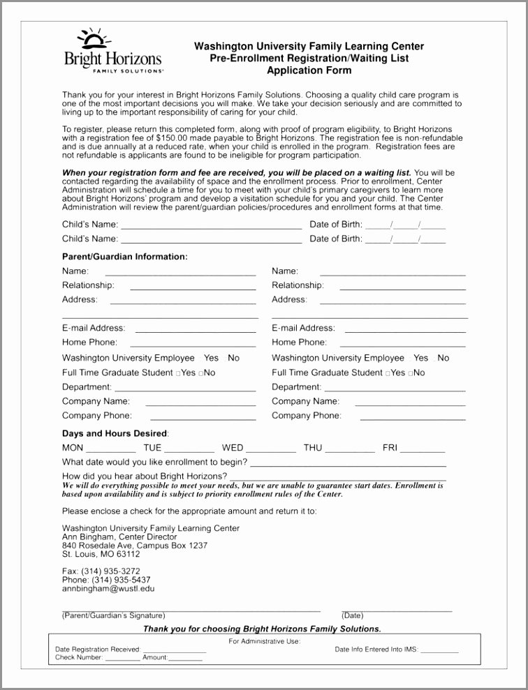editable doc 13 page childcare parent provider contract design child care registration form template inspirational pdf word excel template tpaia yirir