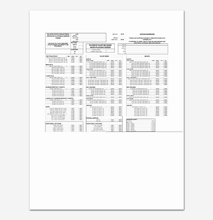 Pre order form Template Best Of T Shirt order form Template 17 Word Excel Pdf