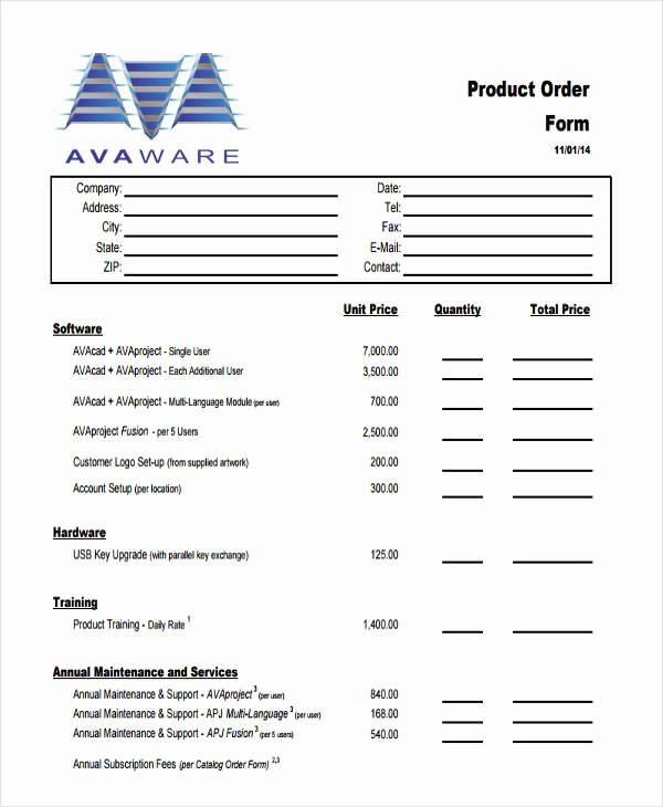 Pre order form Template Elegant 9 Product order forms Free Samples Examples format