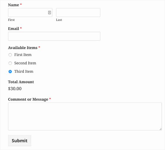 Pre order form Template Free Beautiful How to Create A Simple order form In Wordpress Step by Step