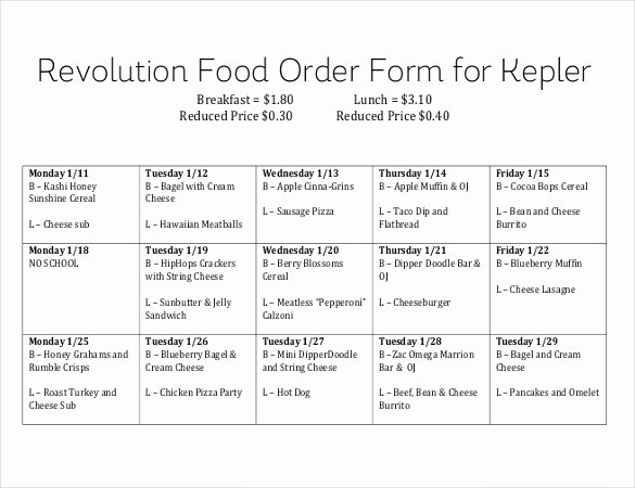Pre order form Template Free Lovely 18 Food order Templates – Docs Word