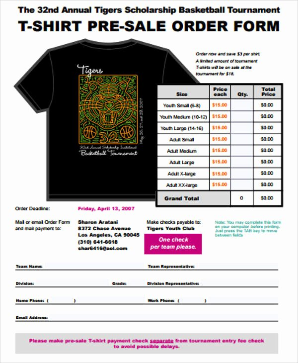 Pre order form Template Free Luxury Sample Sales order form 11 Examples In Word Pdf
