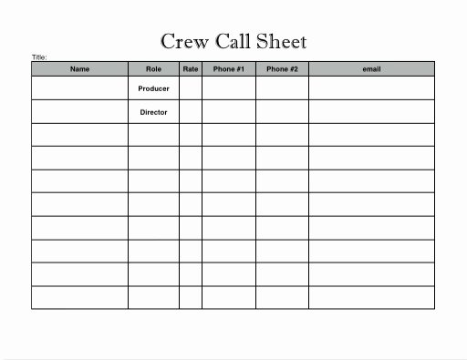 Pre Production Schedule Template Awesome Pre Production Techniques