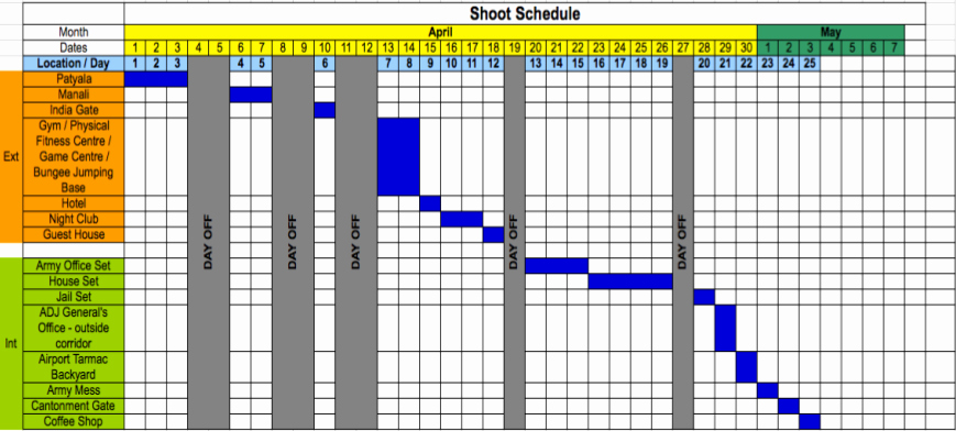 Pre Production Schedule Template Awesome Schedule
