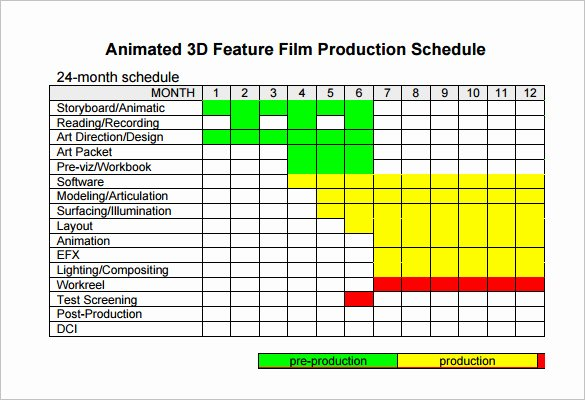 Pre Production Schedule Template Elegant Video Production Schedule Template