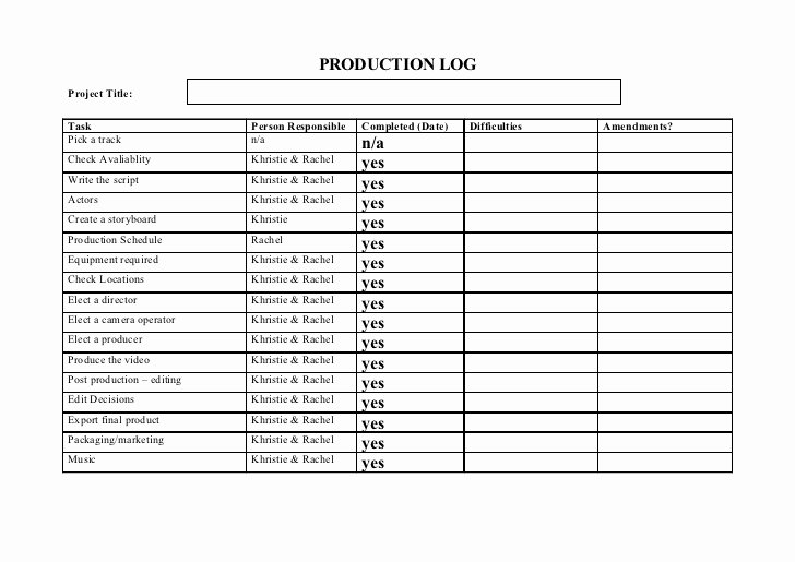 Pre Production Schedule Template Luxury Pre Production Templates