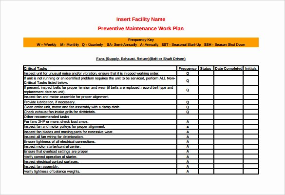 Preventive Maintenance form Template Awesome 39 Preventive Maintenance Schedule Templates Word