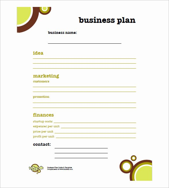 Printable Business Plan Template Fresh Simple Business Plan Template 20 Free Word Excel Pdf