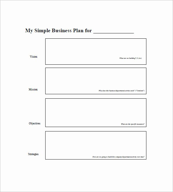 Printable Business Plan Template Luxury Simple Business Plan Template 29 Free Sample Example