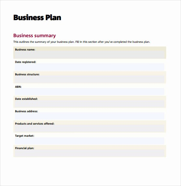 Printable Business Plan Template Unique Sample Business Action Plan – 13 Examples In Word Pdf format