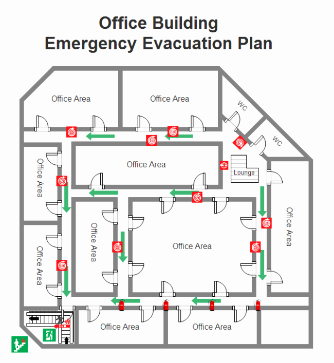 Printable Fire Escape Plan Template Awesome Emergency Evacuation Plan