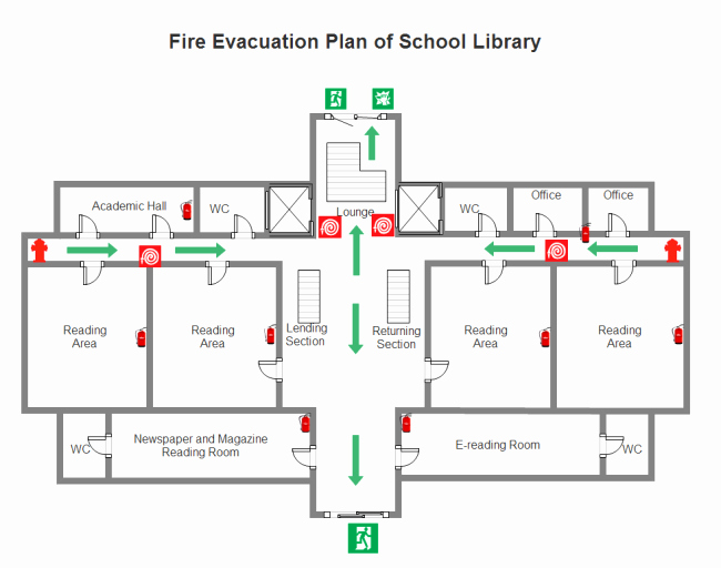 Printable Fire Escape Plan Template Awesome Supermarket Fire Escape Plan Examples and Templates