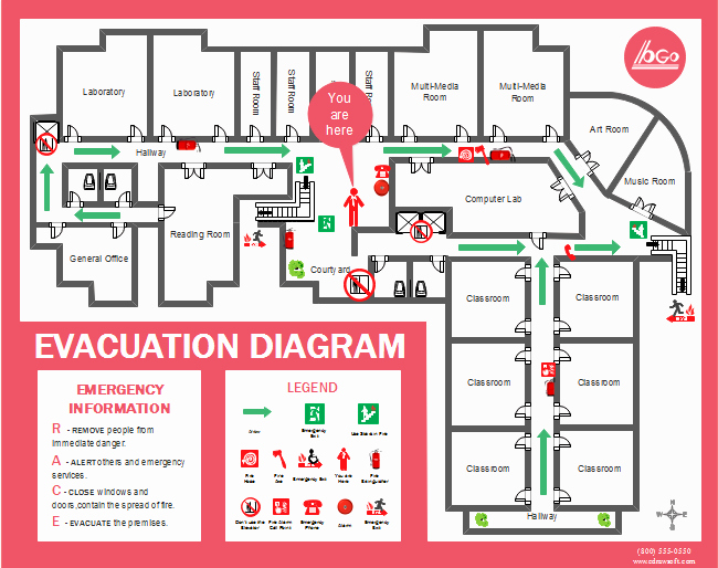 Printable Fire Escape Plan Template Awesome top 10 Free Printable Floor Plan Templates