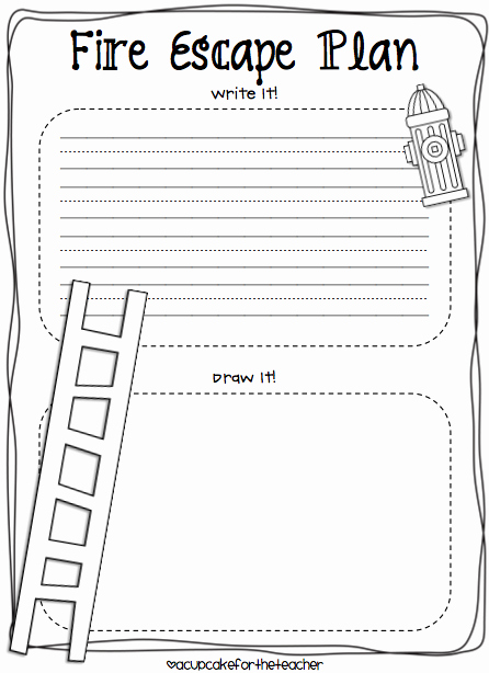 Printable Fire Escape Plan Template Beautiful Fire Safety Kids Craftivity & Printables Plus A Freebie